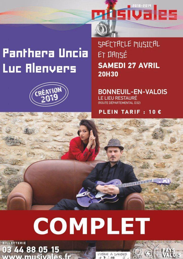 Luc Alenvers spectacle danse Panthera Uncia affiche site