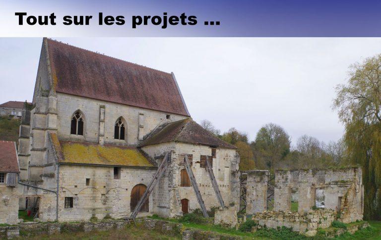 Les projets de l'abbaye de lieu restauré