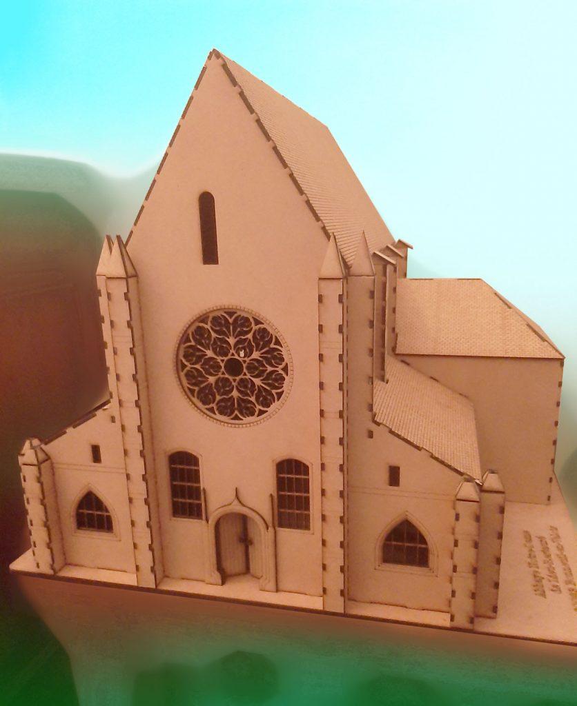 Maquette Abbaye de Lieu Restauré : Christian Loitière